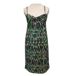 """Diane von Furstenberg Green """"Night Out"""" Silk Dress"""
